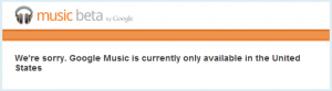 Google Music is not available