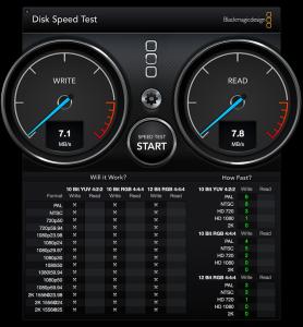 無線経由のAirmac Extreme Diskのパフォーマンス