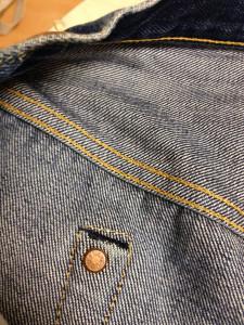 ヒップポケット裏の隠しリベット