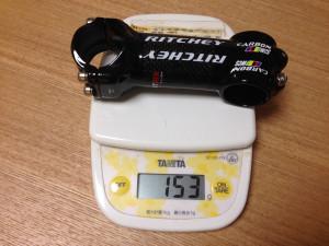 RITCHEY WCSアルカーボンステムの重量