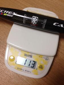 RITCHEY WCSカーボンフラットハンドルを計測