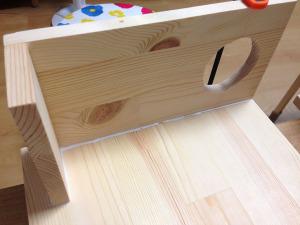 バッフル板+バスレフダクトと側板との接着