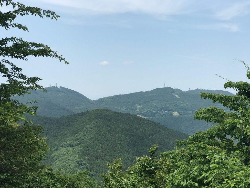 刈場坂峠からの景色。風が気持ちいい