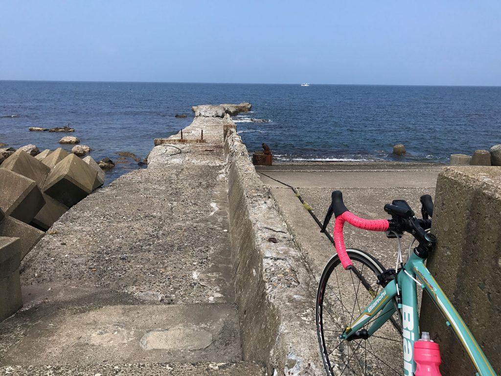津軽海峡の海岸線